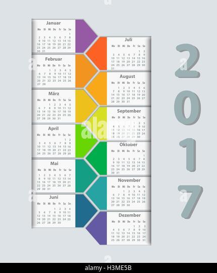 2017 Week On Monday Stock Photos & Calendar 2017 Week On Monday ...
