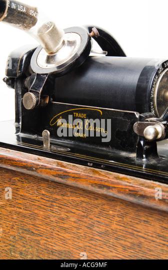 Close Up Of Thomas Edison S Wax Cylinder Phonograph