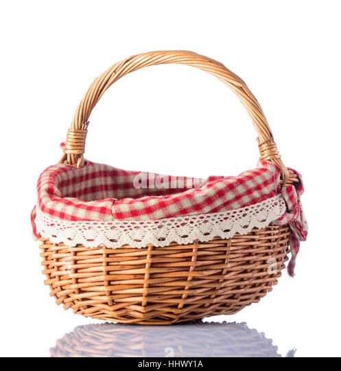 Picnic Basket Empty : Picnic basket isolated stock photos