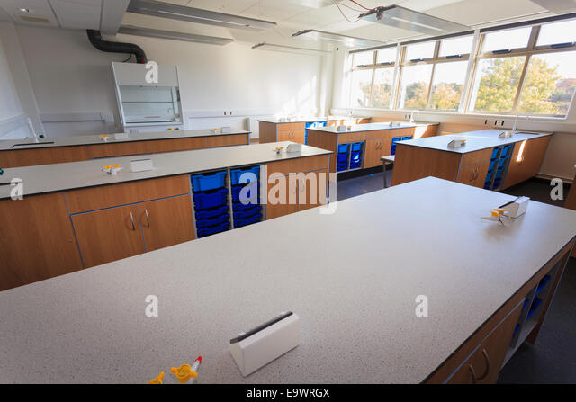 Modern Science Classroom ~ Christs school stock photos images
