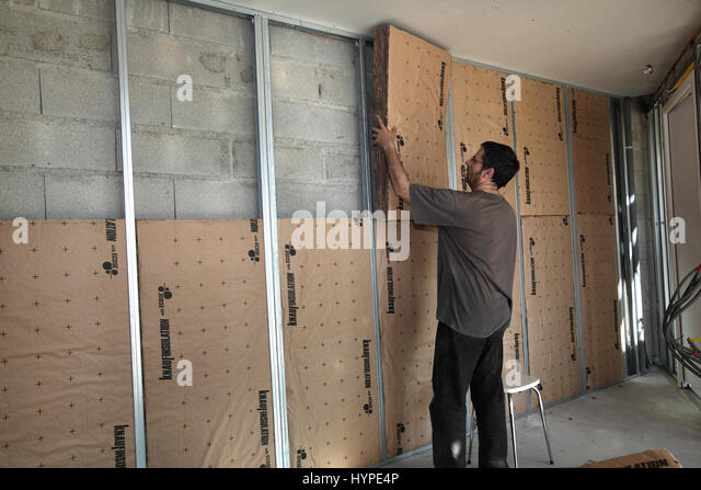 Insulation wall stock photos insulation wall stock for Wool house insulation