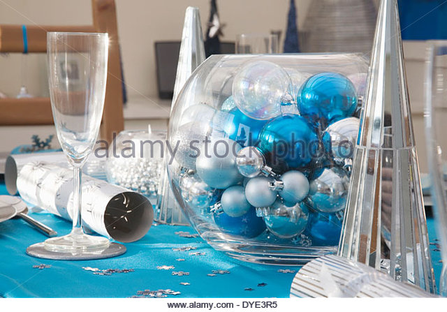 Blue And Silver Christmas Table Decorations Decoration For Home