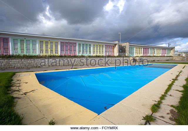 Beach huts weymouth beach stock photos beach huts - Swimming pools in weymouth dorset ...