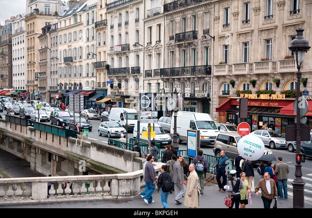 Boulevard saint michel paris stock photos boulevard saint michel paris - Marche saint michel paris ...