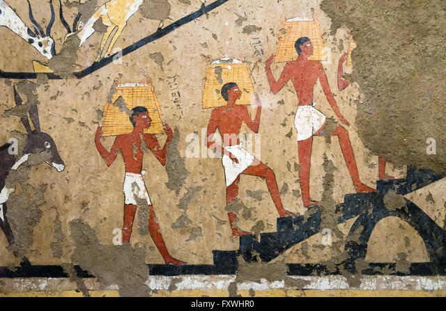 Pharaoh egypt painting stock photos pharaoh egypt for Egypt mural painting