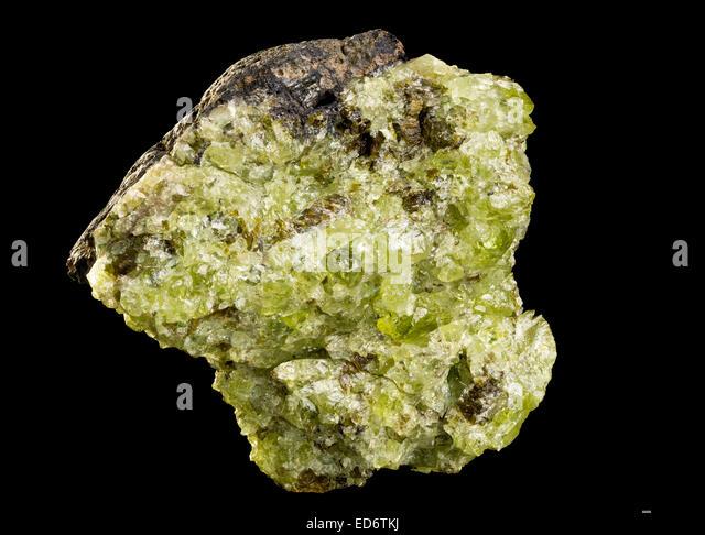Polished Olivine Basalt : Peridot gemstone stock photos