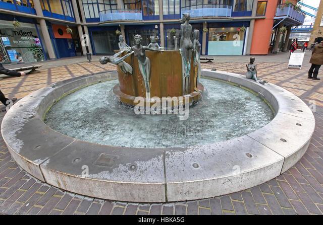 waterfall fountain london stock image - Waterfall Fountain