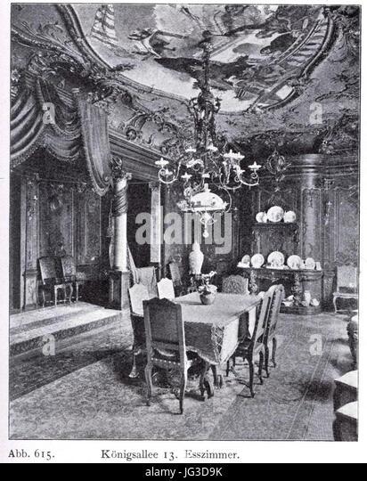 Haus Königsallee 13 In Düsseldorf, Esszimmer Umgebaut Durch Jacobs U0026  Wehling (1862 1913