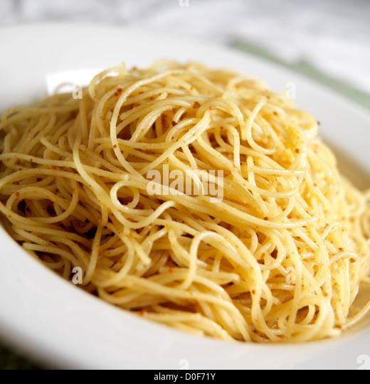 Pasta With Bottarga, an Italian classic - Stock Image