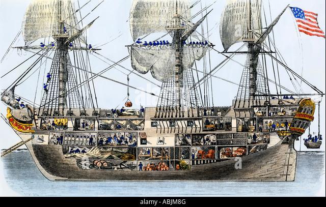 Man Of War Ship Stock Photos amp