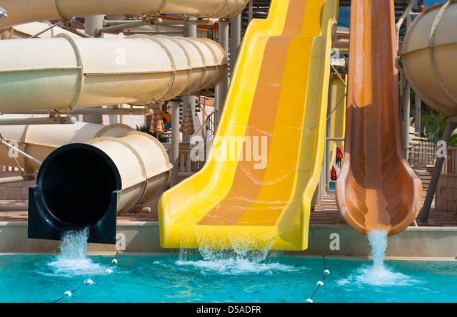 Swimming Slide Fun Spiral Stock Photos Swimming Slide Fun Spiral Stock Images Alamy