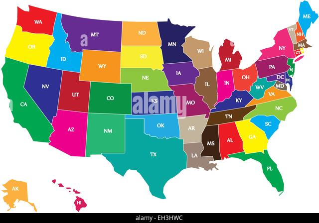 Usa Map Stock Photos Usa Map Stock Images Alamy - Color us map