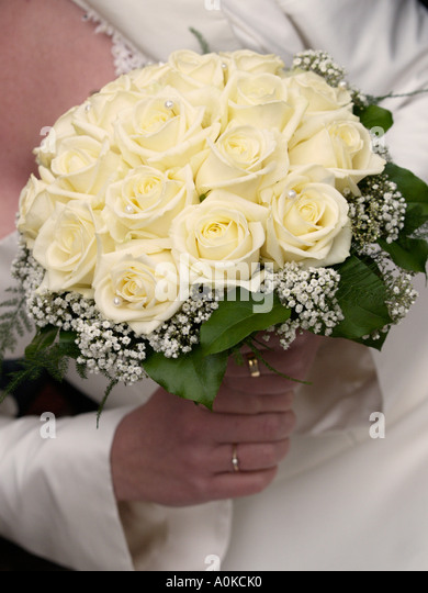 Bridal Bouquet In Mumbai : Pearls and flowers stock photos