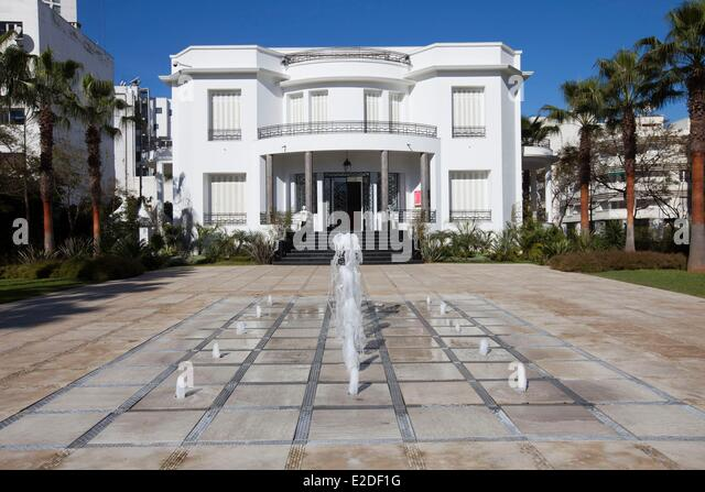 Art deco architecture casablanca stock photos art deco architecture casablanca stock images for Construction villa casablanca