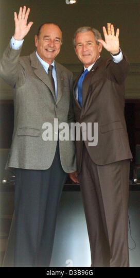 ¿Cuánto mide Jacques Chirac? - Real height Dpa-french-president-jacques-chirac-l-and-us-president-george-w-bush-d3b96g