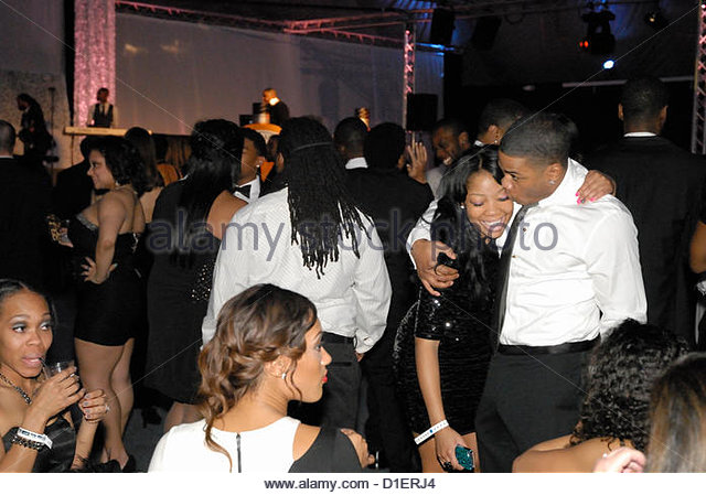 Nelly greets daughter chanelle haynes with a kiss at nellys 7th annual