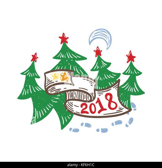New Year 2018 Vector Vectors Stock Photos & New Year 2018 Vector ...