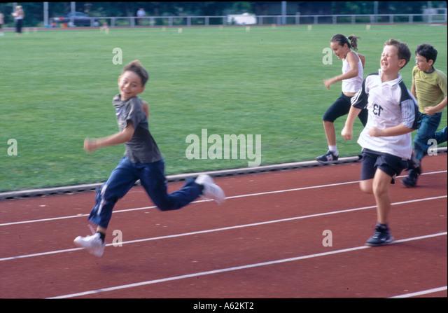 Children Running Track Stock Photos & Children Running ...