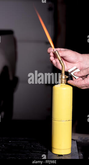 demonstration lighting a propane torch - Stock Image & Propane Torch Stock Photos u0026 Propane Torch Stock Images - Alamy azcodes.com