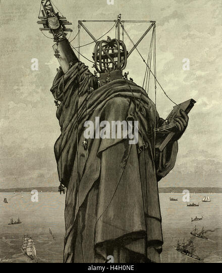 Statue Of Liberty Being Built