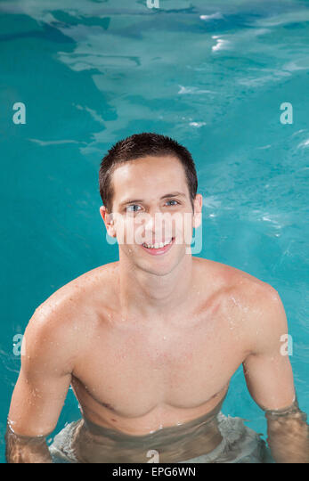 Old men and swimming pool stock photos old men and for Pool man show