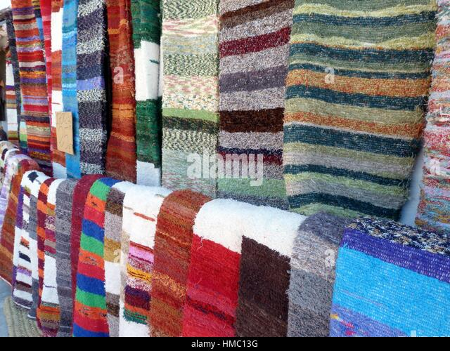 Handmade Rugs In Capileira, Granada, Spain.   Stock Image