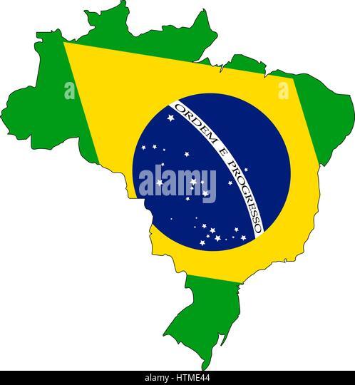 Detailed Map Brazil Flag Stock Photos Detailed Map Brazil Flag - Federative republic of brazil map