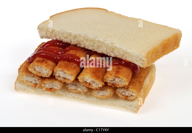 Fish finger isolated stock photos fish finger isolated for Fish stick sandwich