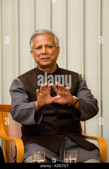 2006 nobel peace prize laureate muhammad yunus stock image
