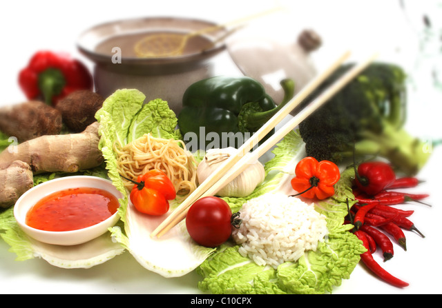 Chinese fondue stock photos chinese fondue stock images for Asian cuisine ingredients