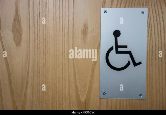 Bathroom Sign Handicap disabled toilet and access stock photos & disabled toilet and