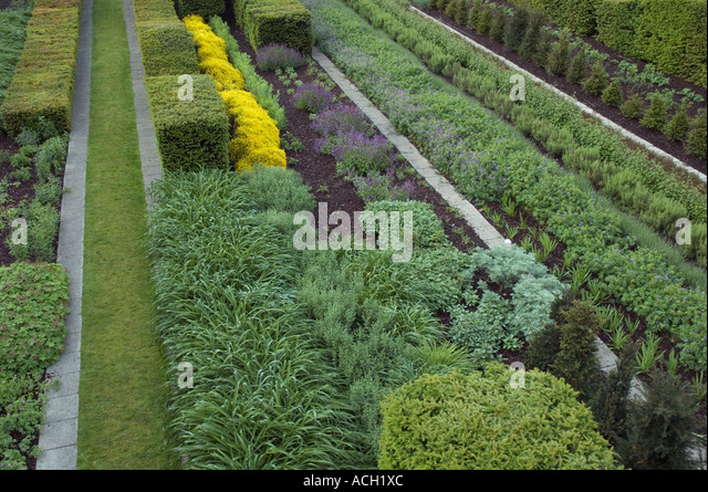 The Landscaped Gardens Of Thames Barrier Park In Silvertown London UK    Stock Image