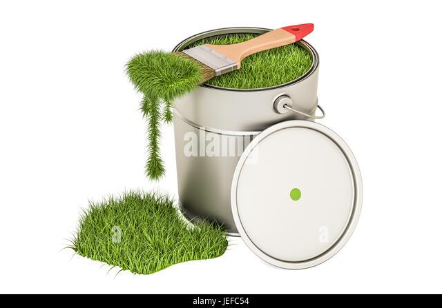 Bottle paint pot brush on stock photos bottle paint pot for Eco friendly paint