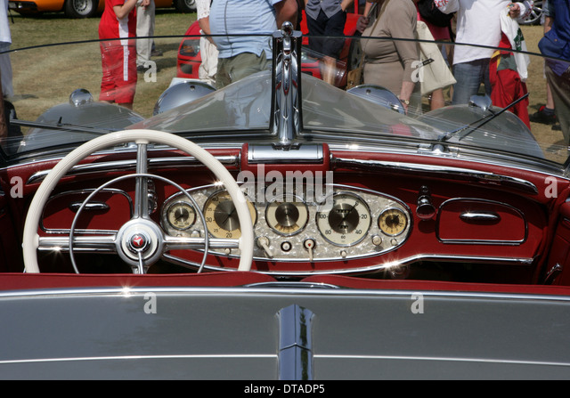 1937 mercedes benz 540k special roadster dashboard stock image