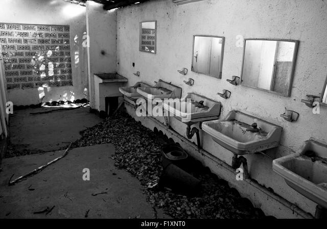 Abandoned public bathroom