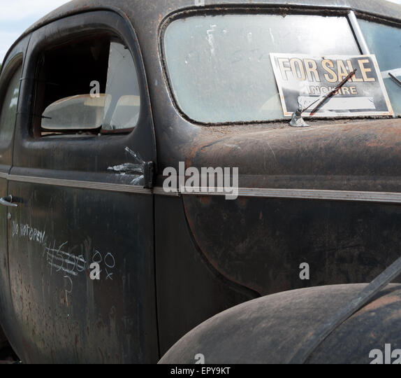 old rusty car for sale stock image - Rusty Old Cars For Sale