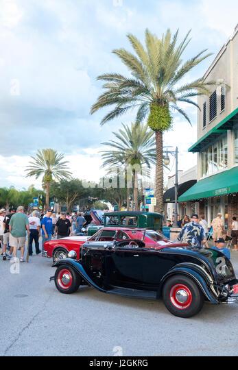 Canal Street New Smyrna Beach Car Show