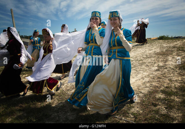 Celebrations of Hidirellez, the Crimean Tatar holiday of spring, near ...