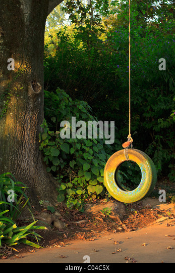 horse tire swing hanging instructions