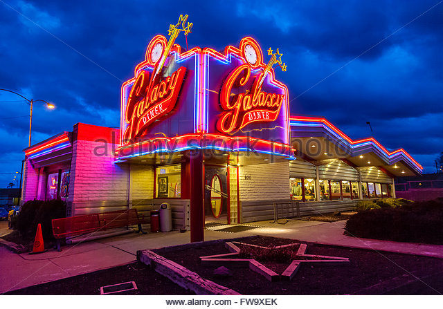 Route 66 diner stock photos route 66 diner stock images for 50 s diner exterior