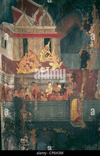 Life Of Buddha Murals Stock Photos & Life Of Buddha Murals ...