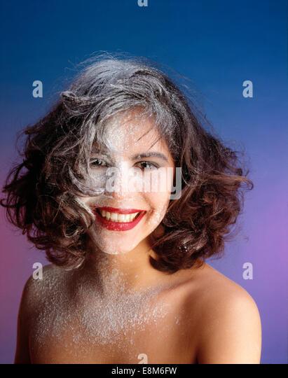 Haare mit mehl