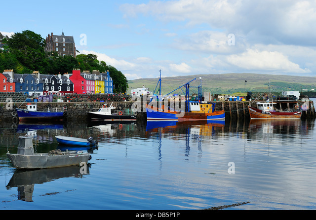 Tobermory Harbour Colourful Stock Photos Tobermory