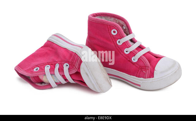 trainers pink shoes stock photos trainers pink shoes