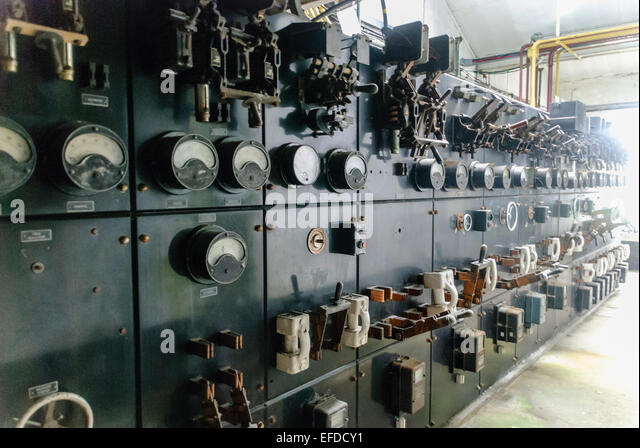 knife switch stock photos knife switch stock images alamy very old electrical switchgear gauges and edison style knife switches stock image