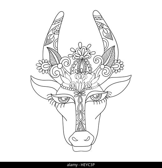 Line Drawing Cow Face : Farming india cut out stock images pictures alamy
