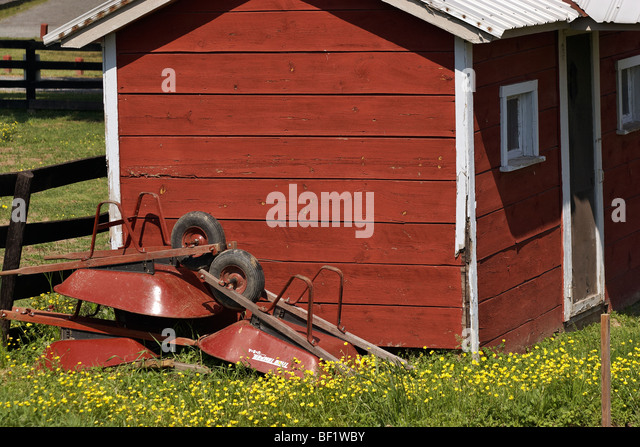 Garden Sheds Virginia wooden garden shed wheelbarrow stock photos & wooden garden shed