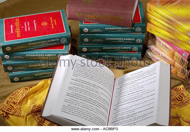 Sanskrit Of The Vedas Vs Modern Sanskrit: Sanskrit Text Stock Photos & Sanskrit Text Stock Images