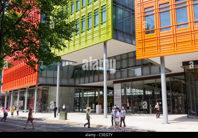 the colourful new office architecture of central saint giles london stock image brightly colored offices central st