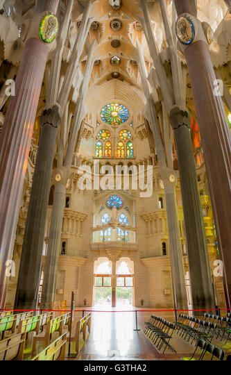 Sagrada familia interior stock photos sagrada familia for Interior sagrada familia